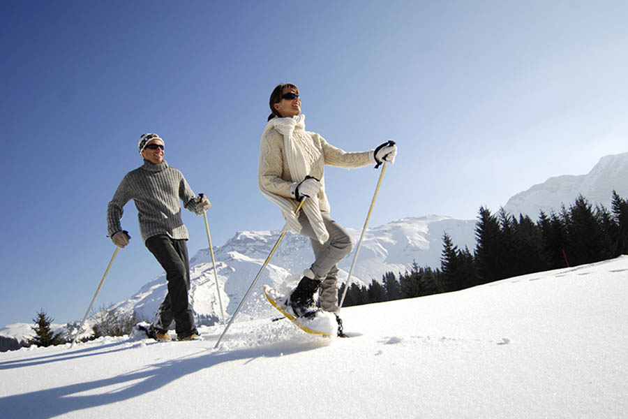 The health benefits of a snowshoe hike!