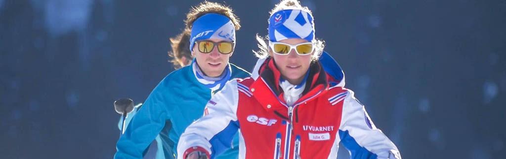 ski nordique moniteurs ESF pour une initiation-sorties uniques
