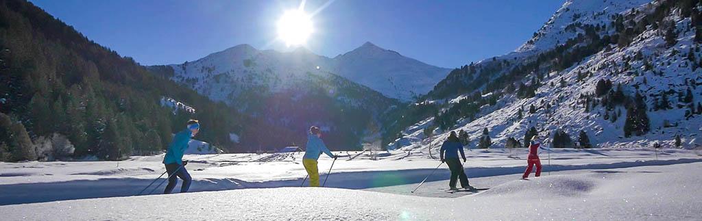 Ski nordique dans un parc naturel